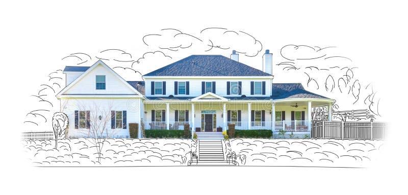 Domowa rysunku i fotografii kombinacja Odizolowywająca na bielu royalty ilustracja