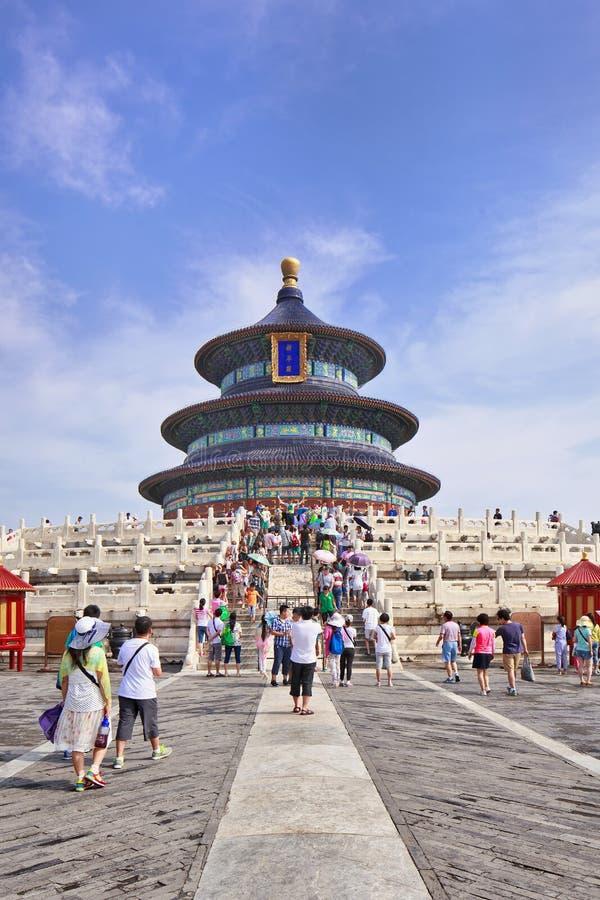 Domowa turystyka przy świątynią niebo, Pekin, Chiny zdjęcie royalty free