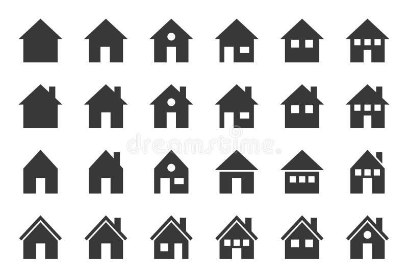 Domowa wektorowa ikona, glifu projekta piksel doskonalić ilustracji