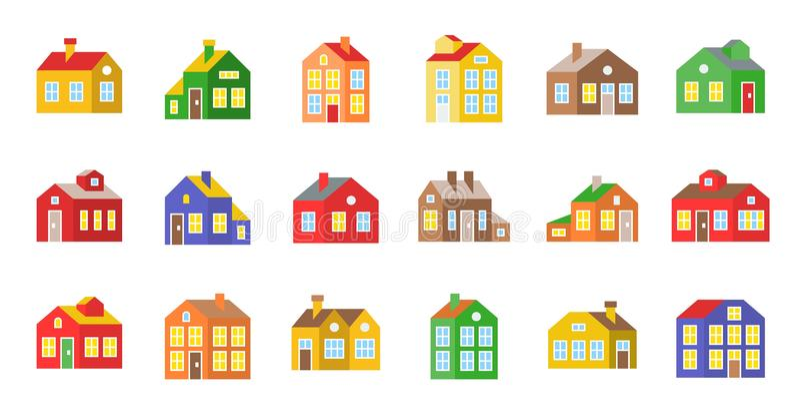 Domowa wektorowa ikona, płaski projekta piksel doskonalić ilustracja wektor