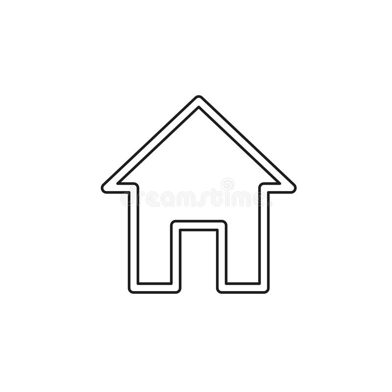 Domowa wektorowa ikona ilustracja wektor
