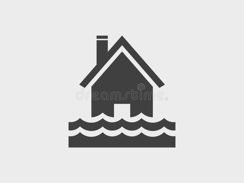Domowa wodna powódź, ikona ilustracja wektor