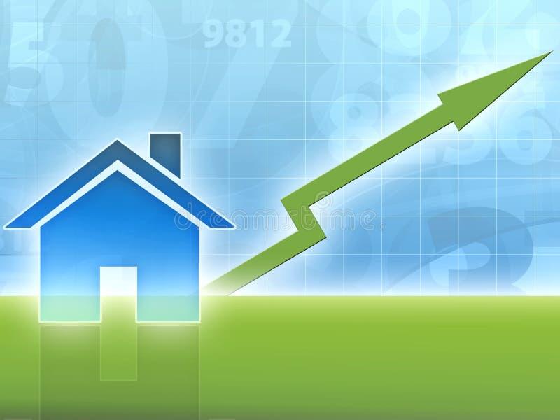 domowa wzrastająca wartość nieruchomości ilustracji