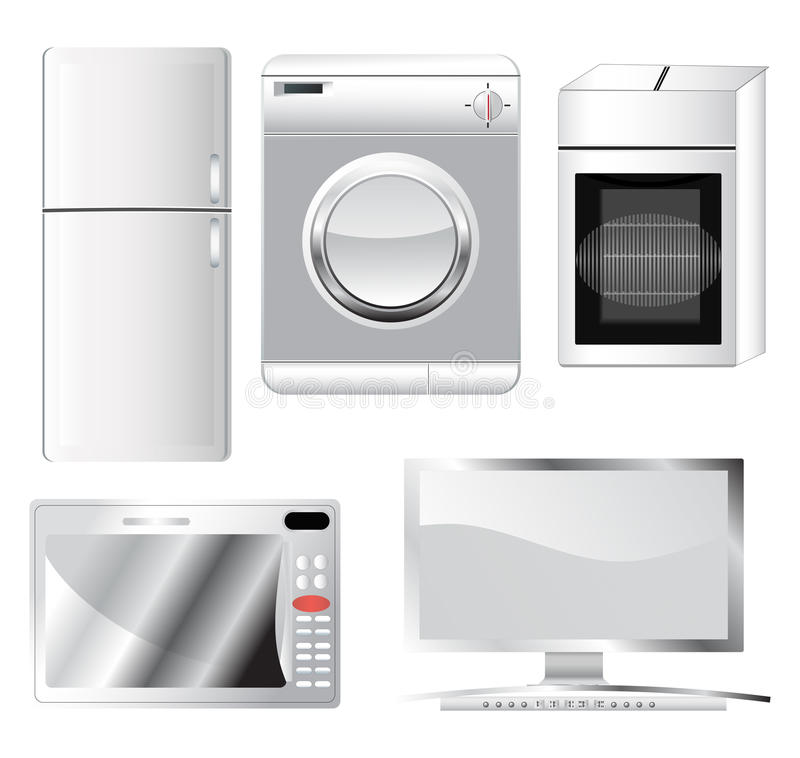 Domowe elektronika royalty ilustracja