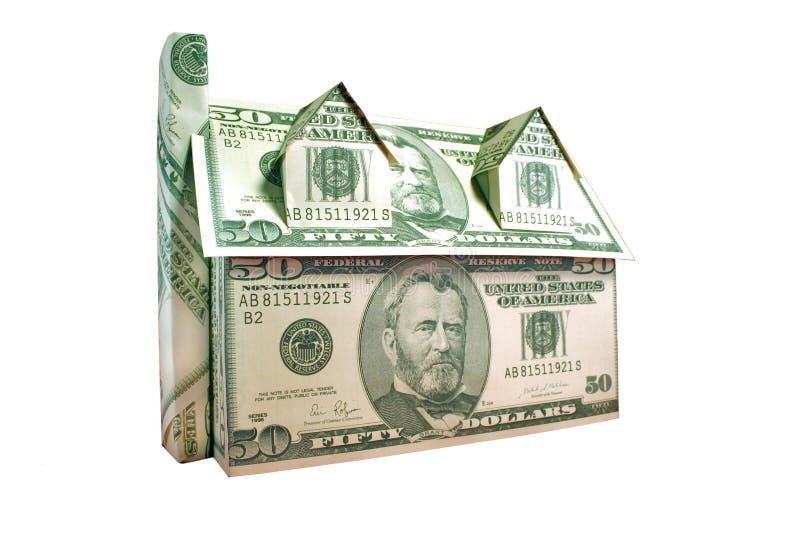 domowe pieniądze wycinek drogę obraz stock