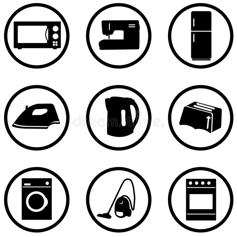 domowe urządzenia ustawienia ikony ilustracji