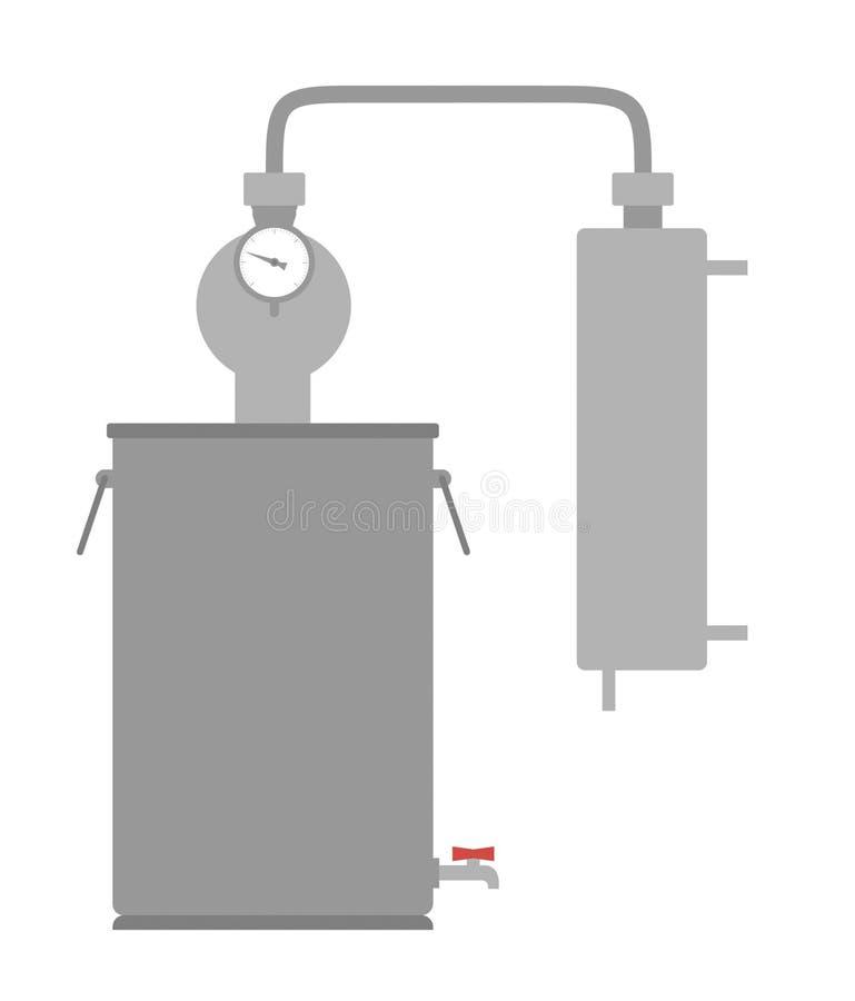 Domowego alkoholu wanny maszynowy dżin, śmierdziucha obrazy royalty free