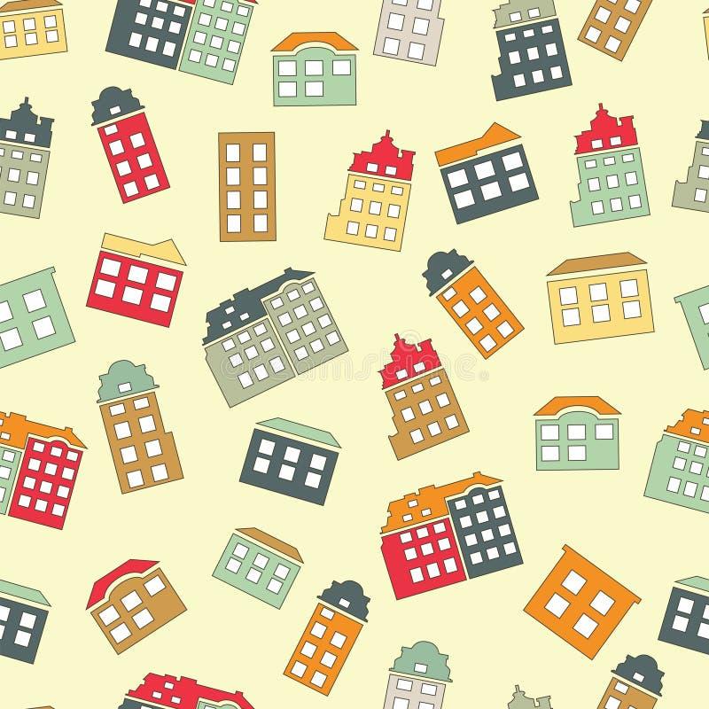 Domowego cukierki domu bezszwowy wzór ilustracji