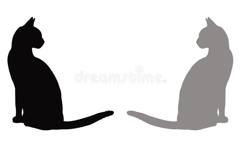 Domowego kota sylwetka ilustracji