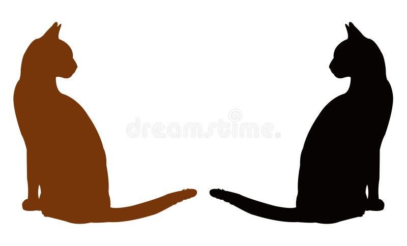 Domowego kota sylwetka royalty ilustracja