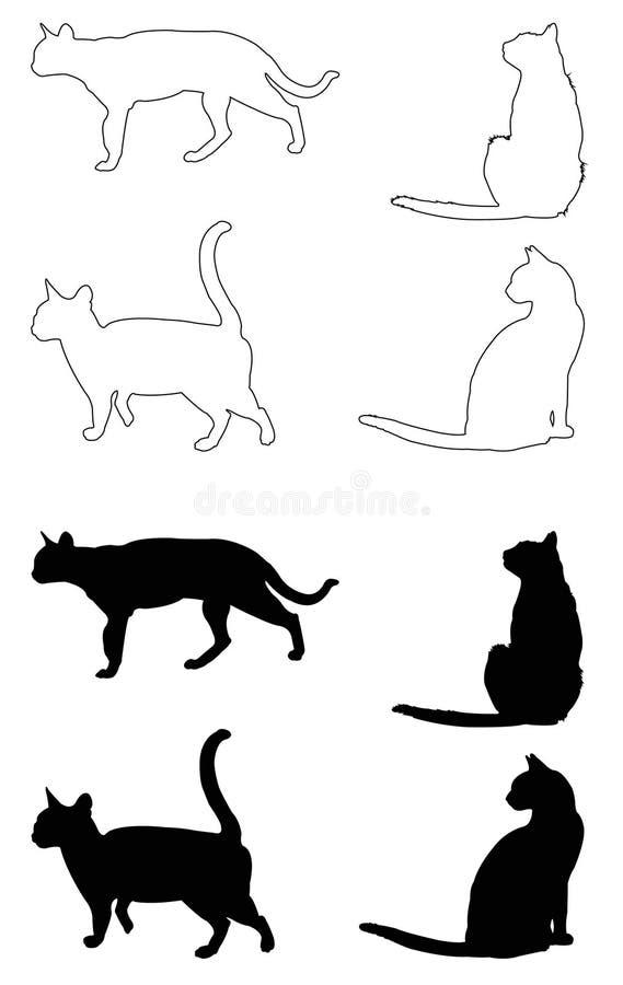 Domowego kota sylwetka ilustracja wektor