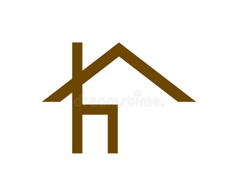 Domowego krzesła loga meblarska prosta ikona ilustracja wektor