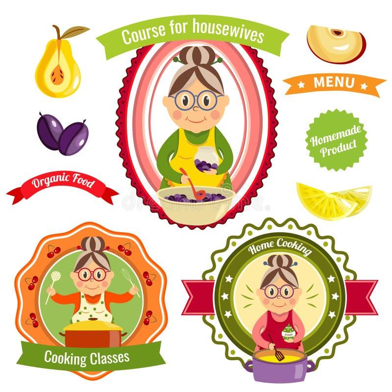 Domowego kucharstwa logowie ilustracji