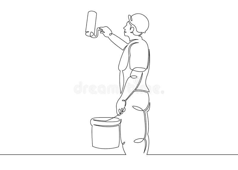 Domowego malarza budowniczy royalty ilustracja