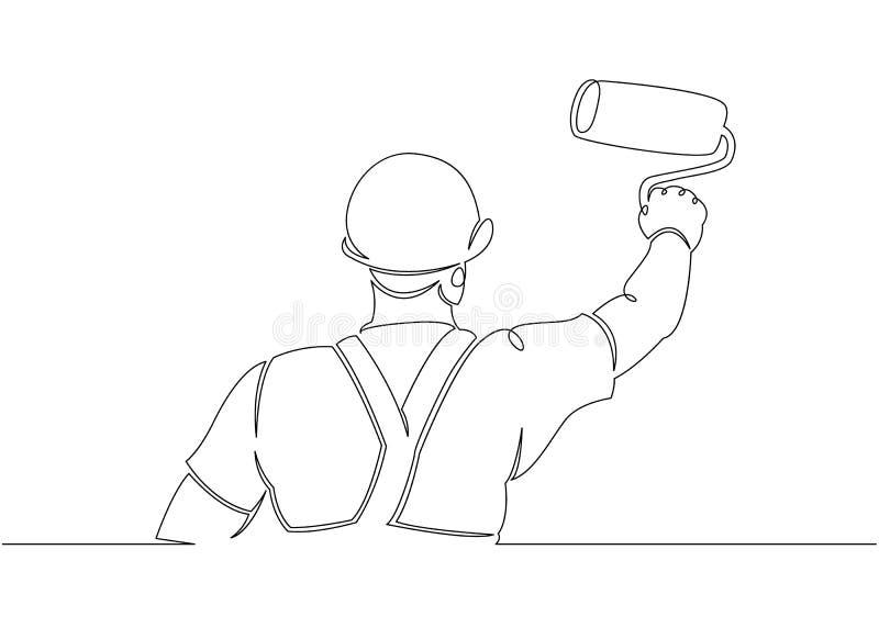 Domowego malarza budowniczy ilustracji