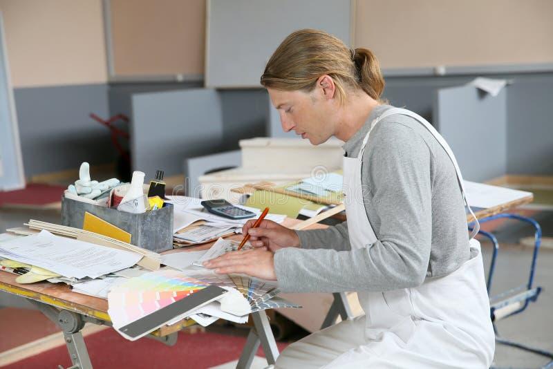 Domowego malarza narządzania colour próbka obrazy royalty free