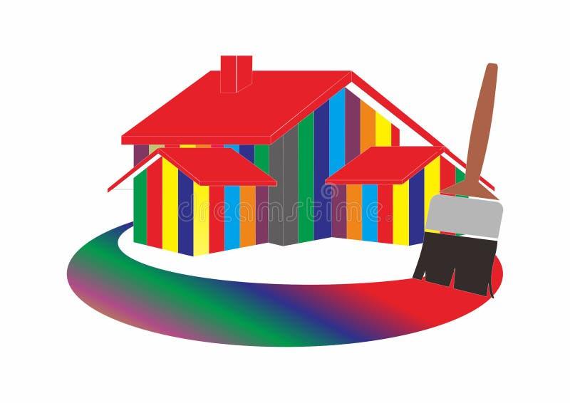 domowego obrazu logo ilustracja wektor
