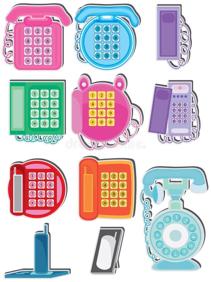 Domowego telefonu set ilustracji