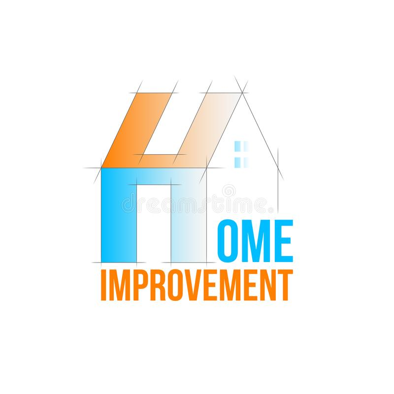 Domowego ulepszenia logo ilustracja wektor