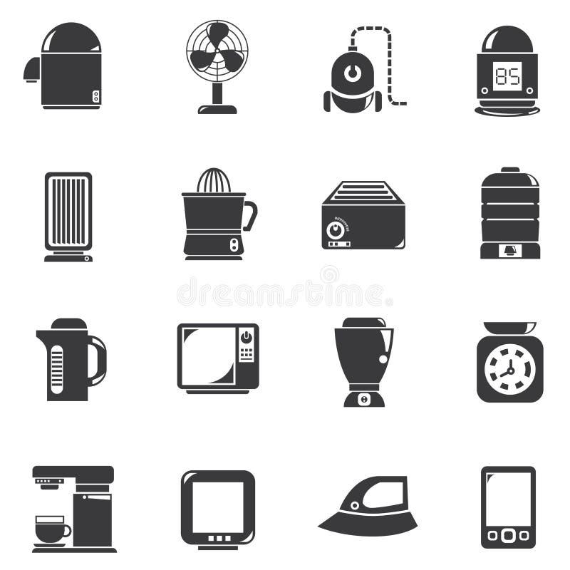 Domowego urządzenia ikony ilustracji