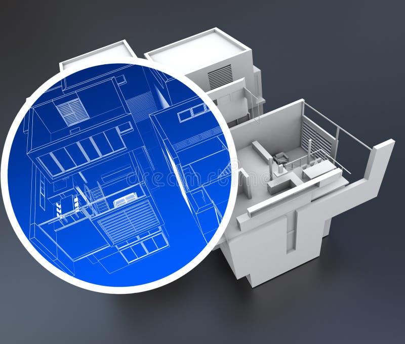 Domowej automatyzaci system royalty ilustracja