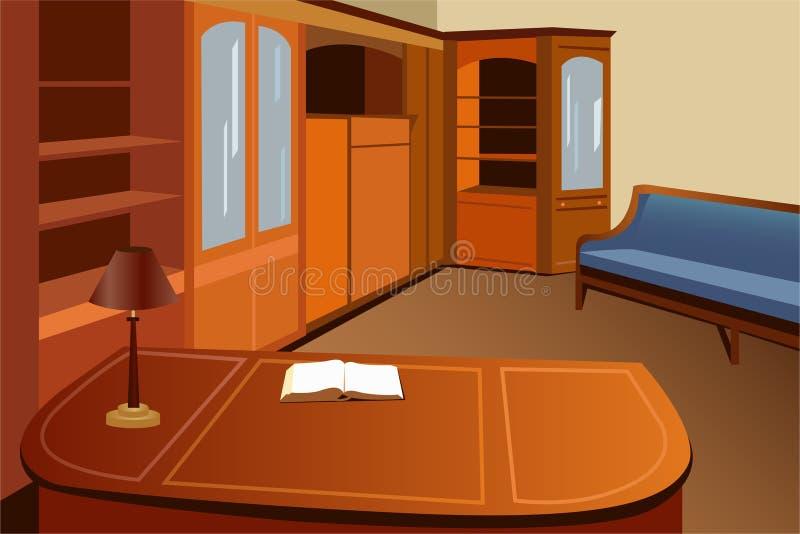 domowej biblioteki wektor ilustracja wektor