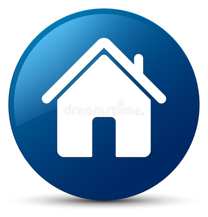 Domowej ikony błękitny round guzik ilustracja wektor