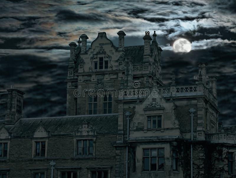 domowej księżyc stary nadmierny wzrost straszny zdjęcia royalty free