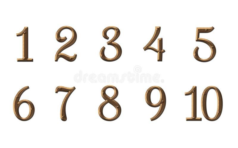 Domowej liczby cyfr osłony mieszkania pokoju drzwiowy hotel ilustracja wektor