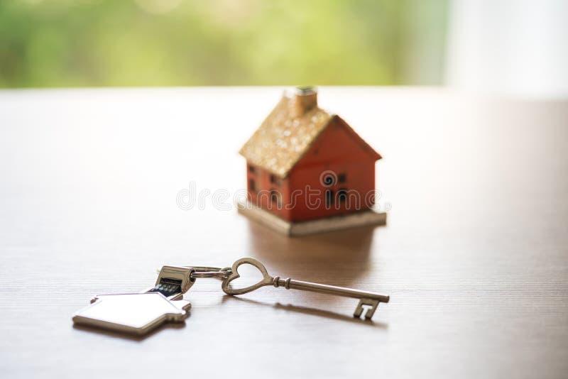 Domowej & lokalowej nieruchomości pojęcie z projektem fotografia stock