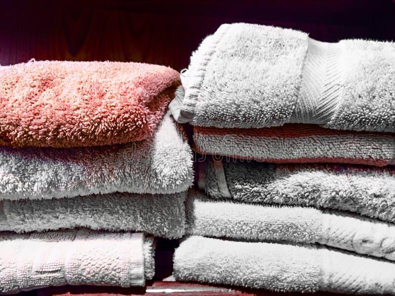 Domowej odzieży herbaciani ręczniki obraz stock