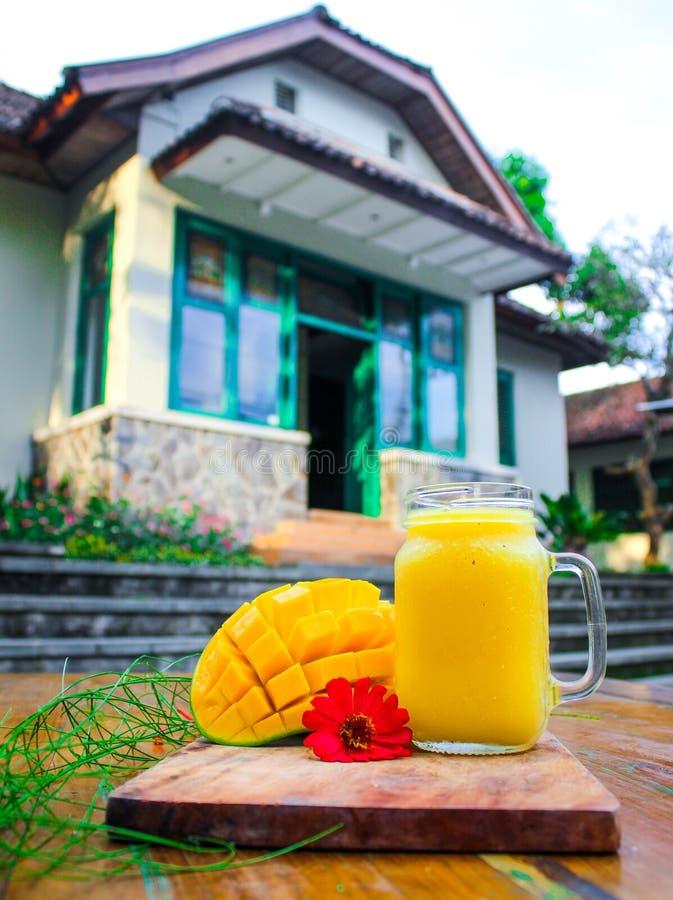Domowej roboty świeży mangowy sok obrazy stock