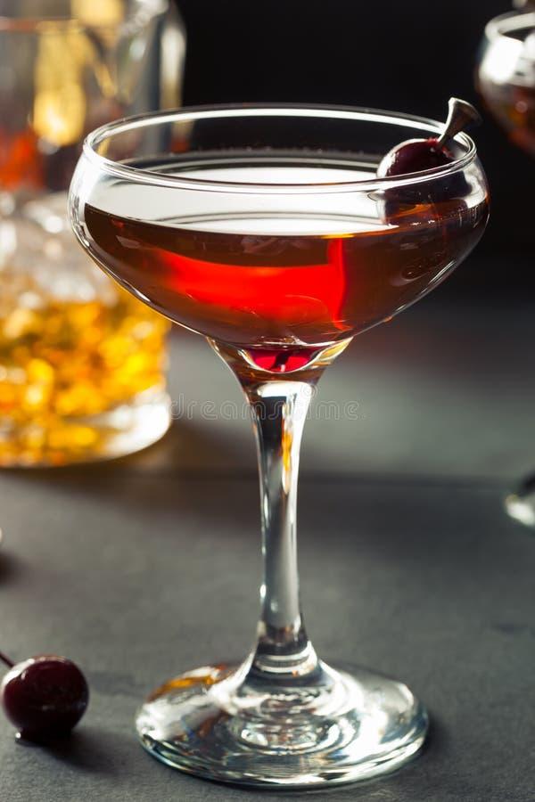 Domowej roboty żyto bourbon Manhattan obraz stock