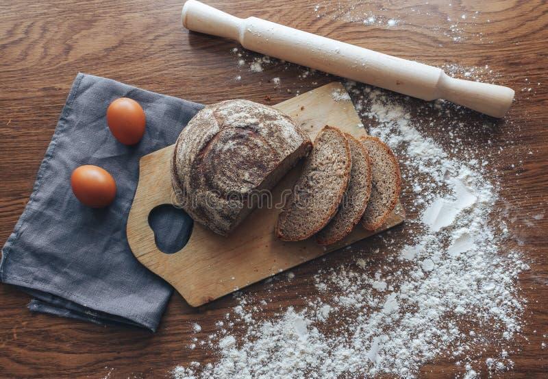 Domowej roboty żyto chleb obraz stock