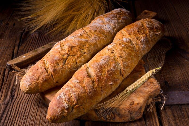 Domowej roboty baguettes zdjęcie royalty free