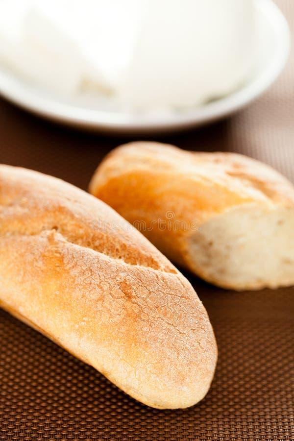 Domowej roboty baguettes z serem fotografia stock