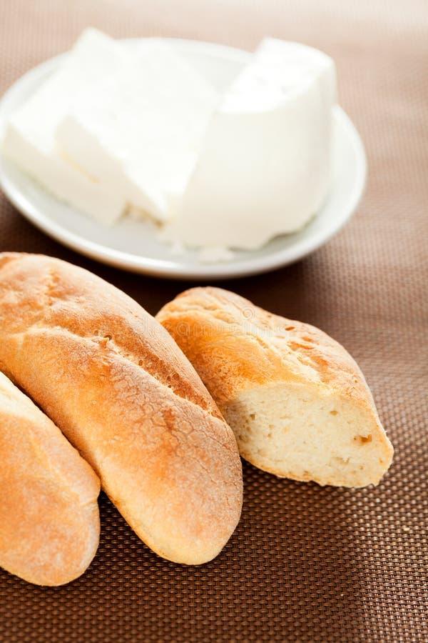 Domowej roboty baguettes z serem obraz royalty free