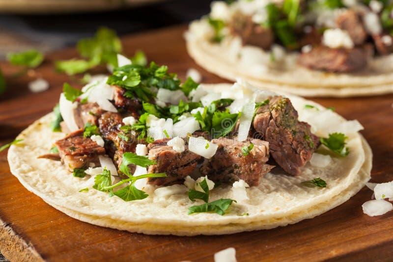 Domowej roboty Carne Asada ulicy Tacos zdjęcie royalty free