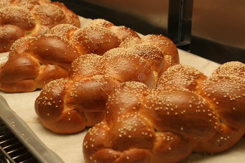 Domowej roboty challah chleb z sezamowych ziaren challah Świeżym chlebem dla shabbat fotografia stock