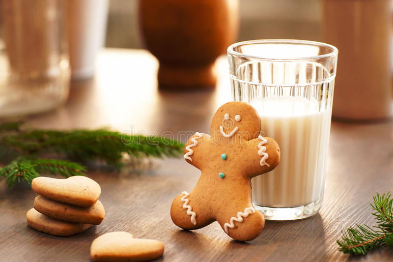 Domowej roboty ciastka dla uczty Święty Mikołaj fotografia stock