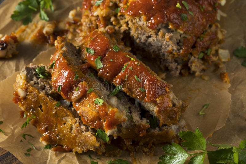 Domowej roboty cząber Spiced Meatloaf fotografia stock