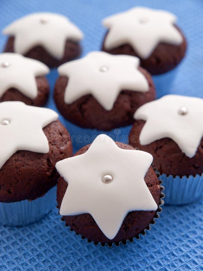 Domowej roboty czekoladowe babeczki obrazy royalty free