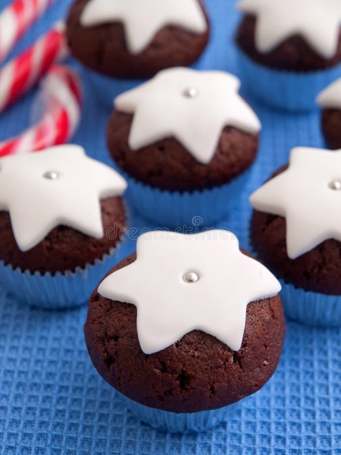 Domowej roboty czekoladowe babeczki fotografia stock