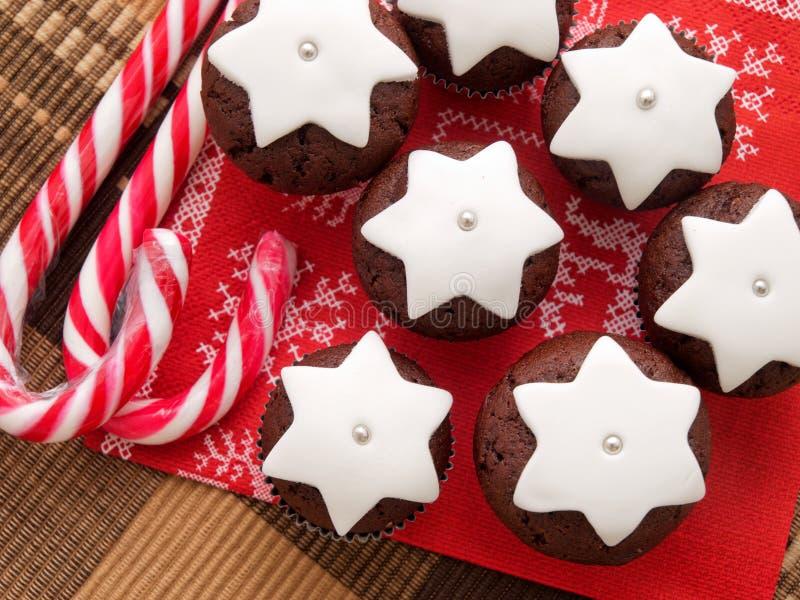 Domowej roboty czekoladowe babeczki zdjęcie stock