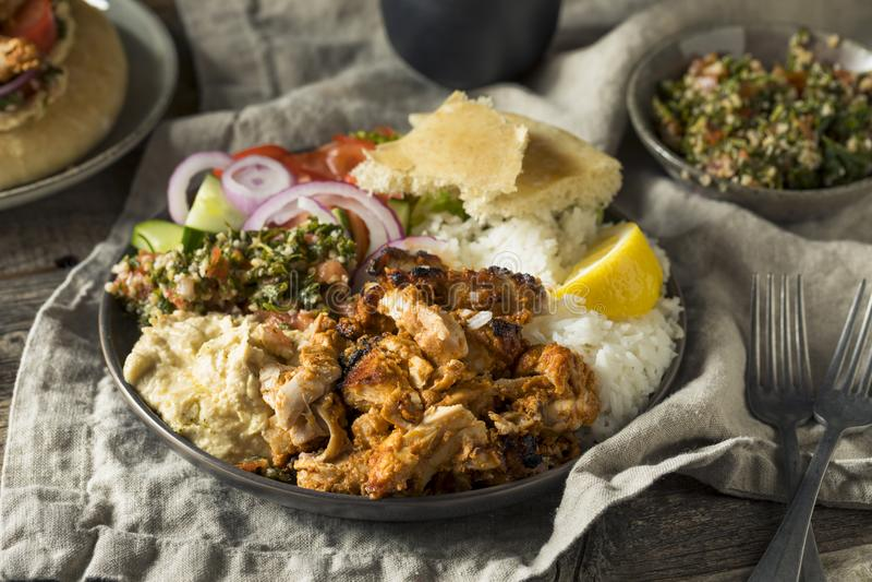 Domowej roboty Doner Kebab talerz zdjęcie royalty free