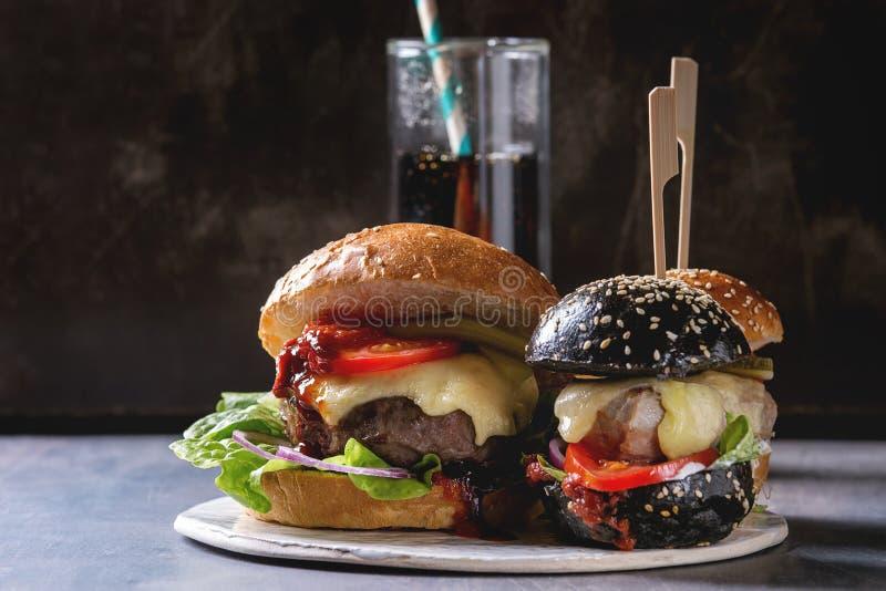 Domowej roboty hamburger rozmaitość obraz royalty free