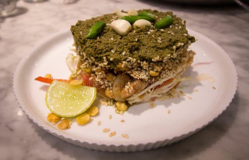 Domowej roboty herbacianych liści myanmr sałatkowy styl zdjęcia royalty free