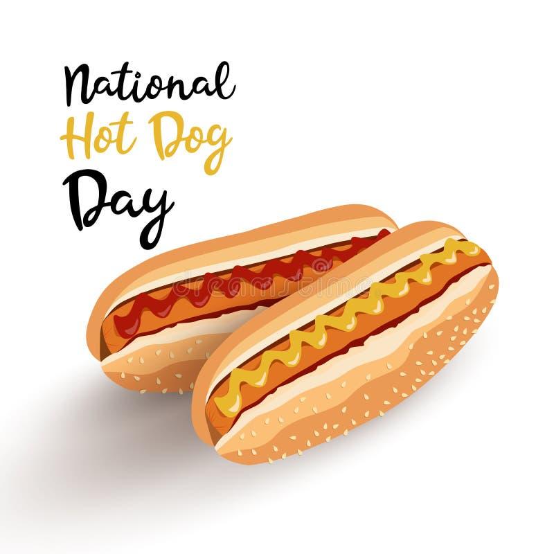 Domowej roboty hot dog ilustracji