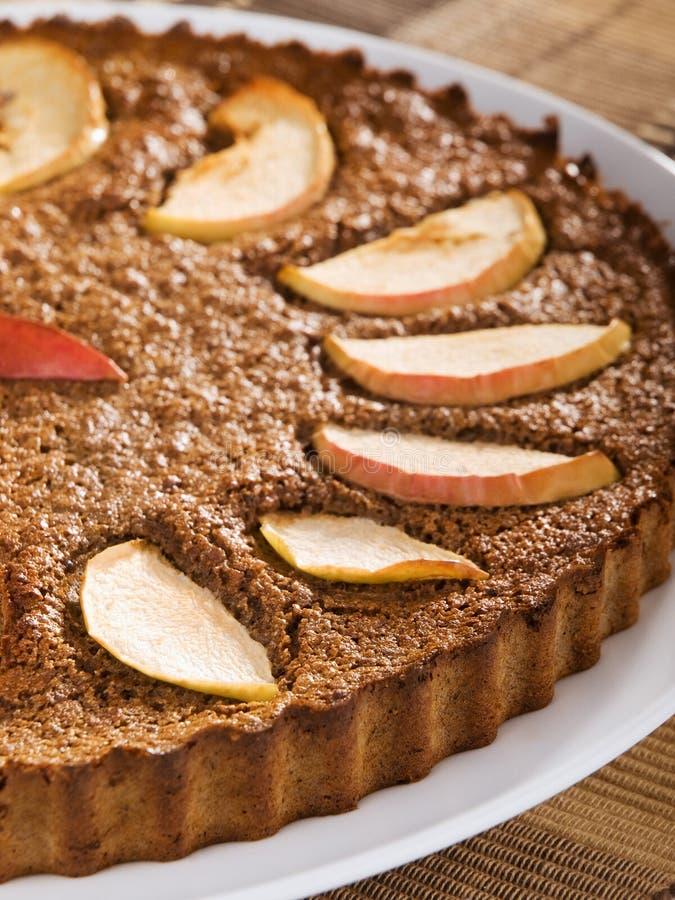 domowej roboty jabłczany tort fotografia royalty free