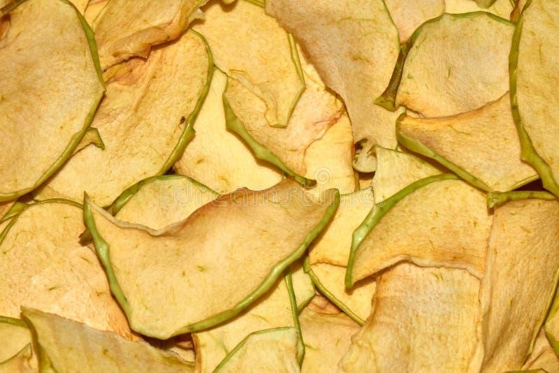 Domowej roboty jabłko szczerbi się naturalnego zdrowego przekąski tło fotografia stock